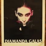 Rare Diamanda Galás Poster: 2 mics, purple